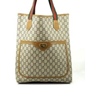 Auth Gucci Sherry Line Gg Tote Bag #4310G15